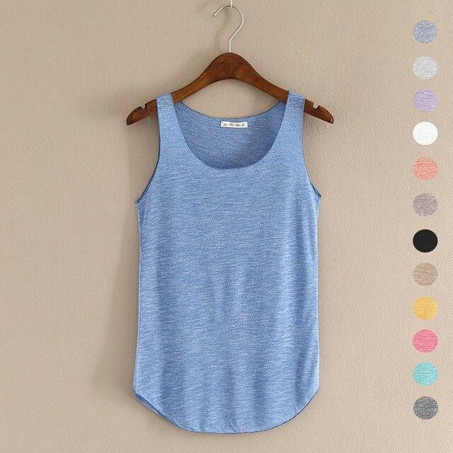 Gorące lato tank top fitness nowy T koszula Plus rozmiar luźny model damskiej podkoszulki bawełna O neck topy slim moda odzież damska