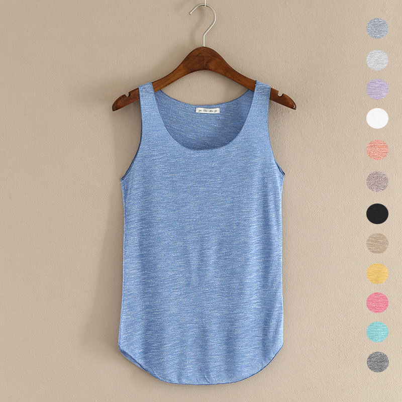 HOT sommer Fitness Tank Top Ny T-shirt Plus Size Løs Model Women T-Shirt Bomuld O-Neck Slim Tops Fashion Woman Clothes