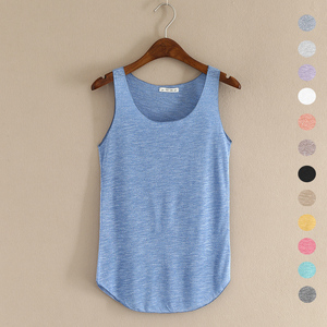 Image 1 - HOT summer Fitness Tank Top New T Shirt Plus Size Loose Model Women T shirt Cotton O neck Slim Tops Fashion Woman Clothes