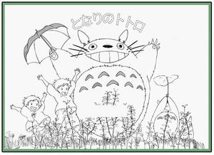 Image 5 - Anime mój sąsiad Totoro kolorowanka dla dzieci dorosły stres stres zabij czas malowanie rysunek antystresowy książki prezent