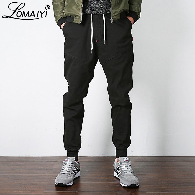 LOMAIYI NEW Stretch Men's Joggers Pants 2019 Spring/Autumn Khaki/Black Harem Pants Men Casual Trousers Male Jogger Pants BM310