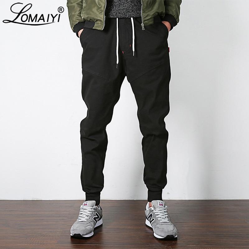LOMAIYI NEW Stretch Men's Joggers Pants 2019 Spring/Autumn Khaki/Black Harem Pants Men Casual Trousers Male Jogger Pants BM310