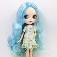Factory Neo Blythe Doll Green Mix Blue Hair Regular & Jointed Body 30cm