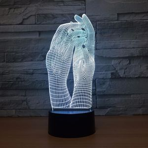 Image 3 - Love Two Hands Beautiful 3D Lamp LED Night Light USB Touch Table Lamp Decoration Party Holiday Indoor Lighting Figure Lamp