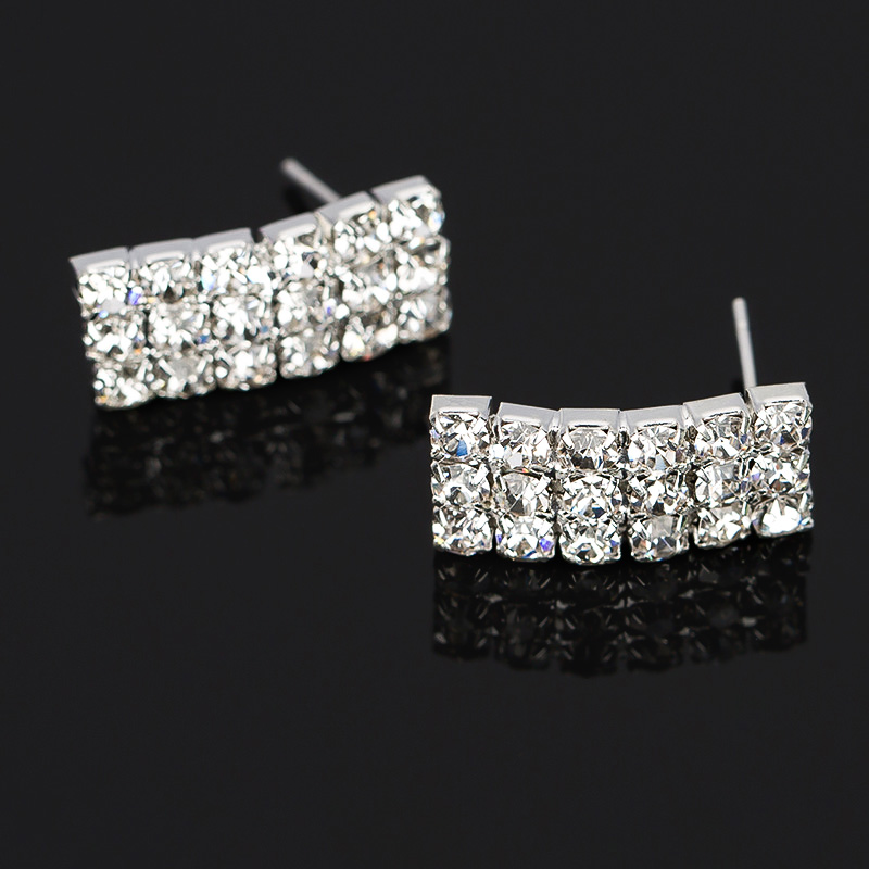 Crystal Rhinestone Necklace Earrings Fashion Jewelry Sets Party - Fashion Jewelry - Photo 4
