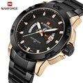 Топ люксовый бренд мужские s часы NAVIFORCE мужские полностью стальные Дата водонепроницаемые спортивные армейские военные кварцевые наручные ...
