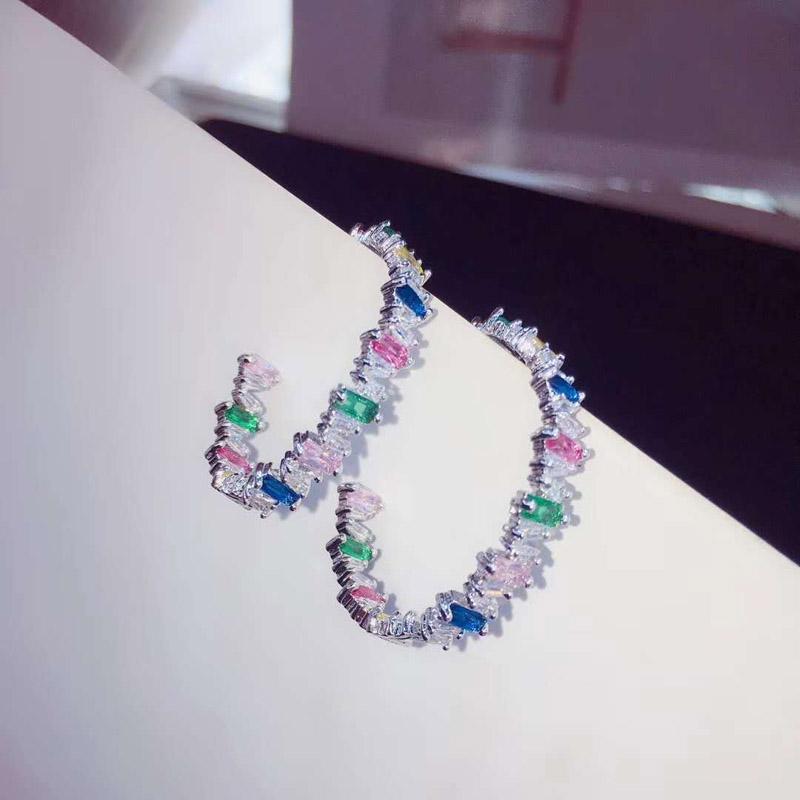 Большие разноцветные Серьги кольца be 8 2018 роскошные модные