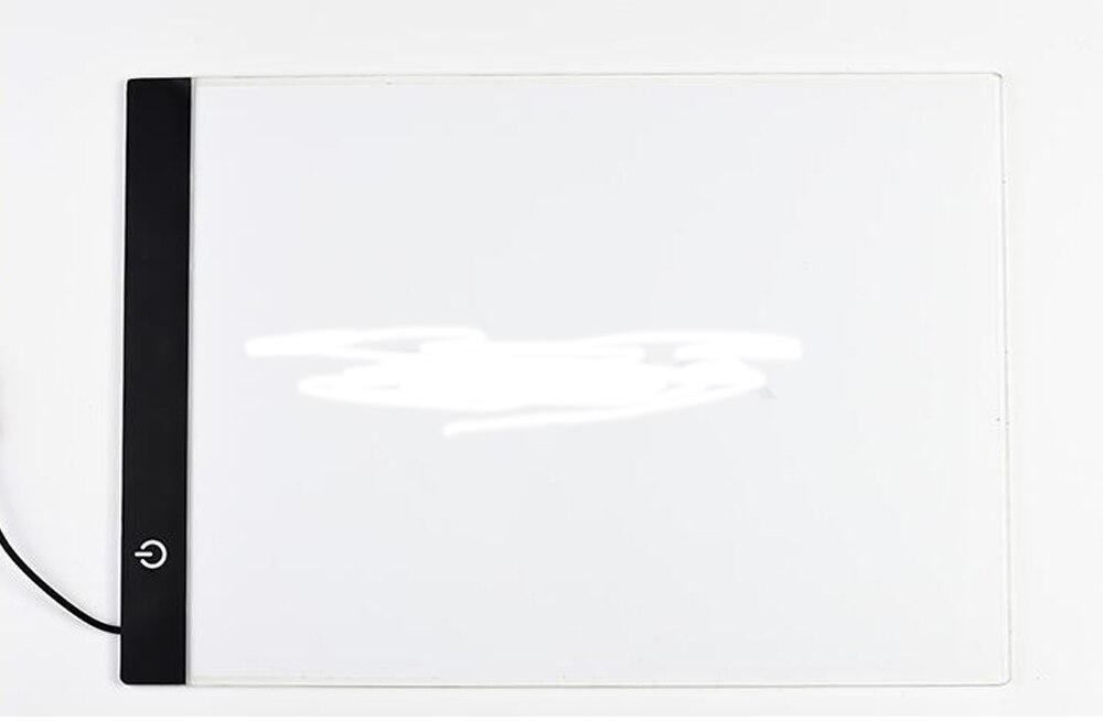 Ultrathin 3,5mm A4 luz LED Tablet Pad se aplican a la UE/AU/UK/US/conector USB bordado de diamantes pintura diamante Cruz puntada