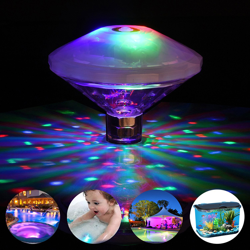 Floating Underwater Swimming Pool Light LED Disco Party Light Glow Show Fountain Fish Tank Aquarium Pond Hot Tub Spa Lamp