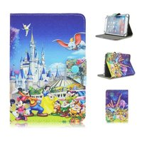 10 Inch Tablet 3D Kid Cute Color Printing Minnie And Mickey Filp Stand Leather Universal Case