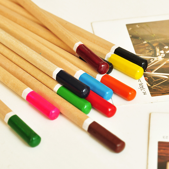 [sweet time] The appendtiff stationery fresh fashion 12 brief wood painting pencil colored pencil