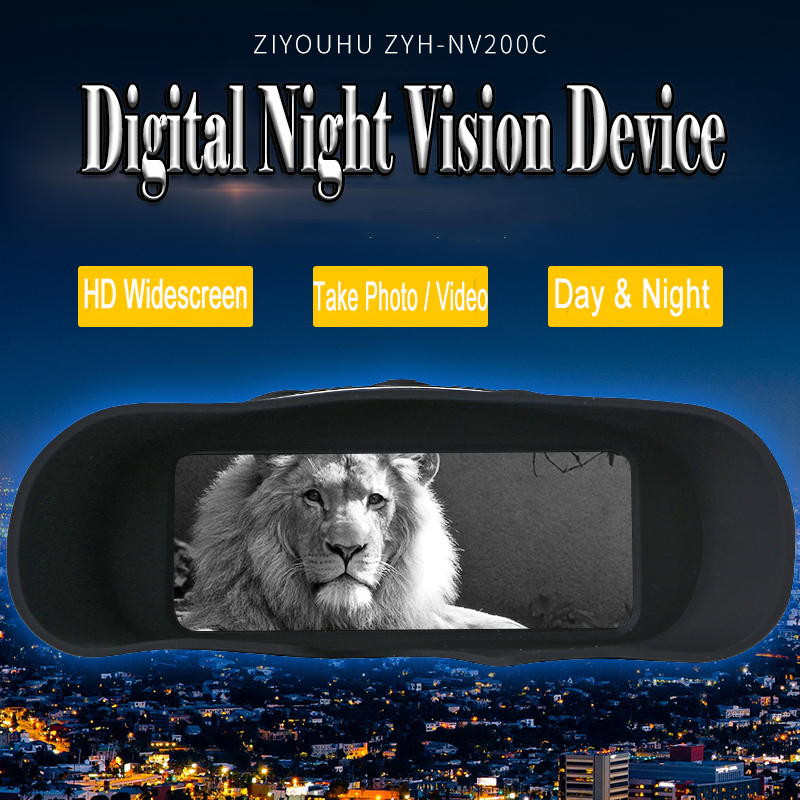 ZIYOUHU HD Dynamic Widescreen Infrared Digital Night Vision Goggles Multi function Photography Camera Night Hunting Snap Device in Night Visions from Sports Entertainment