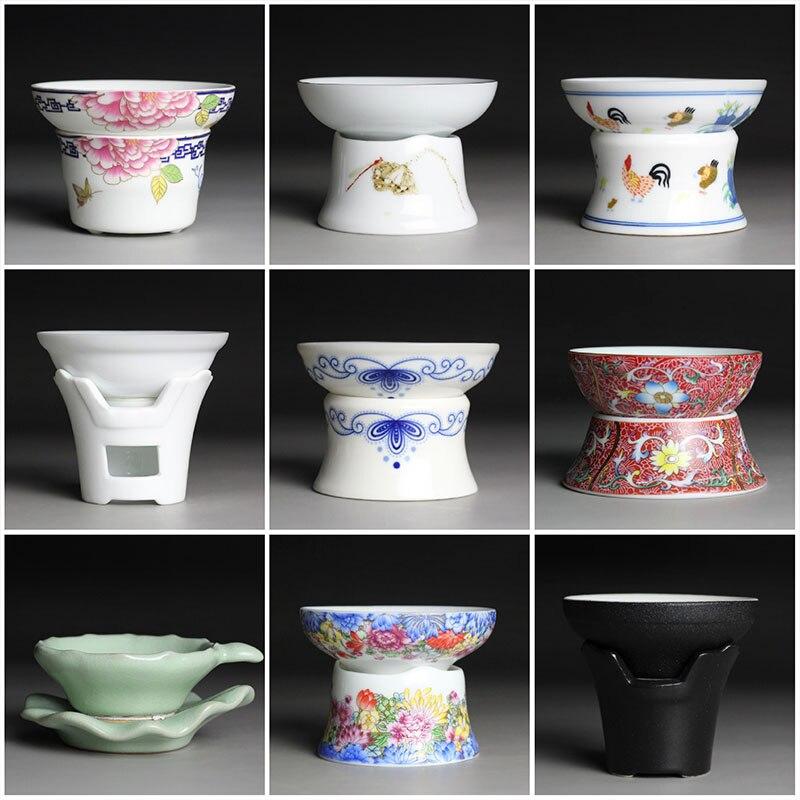 Kung Fu tea set accessories Ceramic tea filter tea Infuser Reusable Herbal Strainer Loose coffee Leaf Spice Filter A