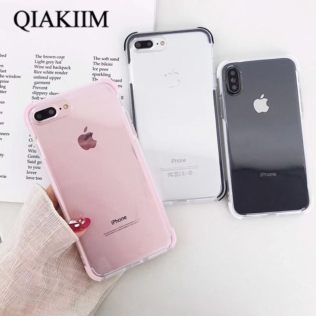 online store af56a a0078 Aliexpress.com : Buy Candy Color Anti Knock Phone Case For iphone X XS XR  Max 6 6S 7 8 Plus Back Cover Fashion Transparent Cases Luxury Full Protect  ...