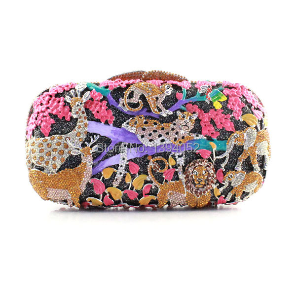 Exquisite Animal Pattern Ladies Crystal Clutch Evening Bag Women Top Fashion Wedding Party Clutch BagsExquisite Animal Pattern Ladies Crystal Clutch Evening Bag Women Top Fashion Wedding Party Clutch Bags
