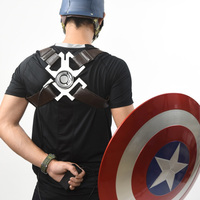 [Funny] 1:1 Avengers wearable Electromagnetic Belt Captain America Shield model magnetic adsorption prop cosplay Costume party