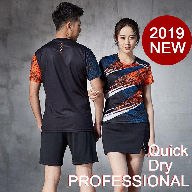 Badminton ensembles hommes et femmes Badminton court et chemise Badminton vêtements Tennis vêtements pour professionnel séchage rapide