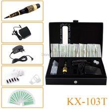 New KX 103T Dragon Permanent Makeup Eyebrow Tattoo Mosaic Machine Kit Cosmetic Pen Pedal Needles Tips Power Supply Free Shipping