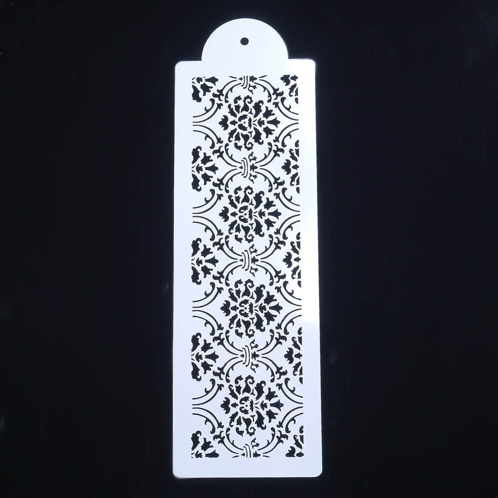 Plastic Lace Border Crown Flower Reusable Stencil Airbrush Painting Art DIY Home Decor Scrap Booking Album Crafts Hollow Mold