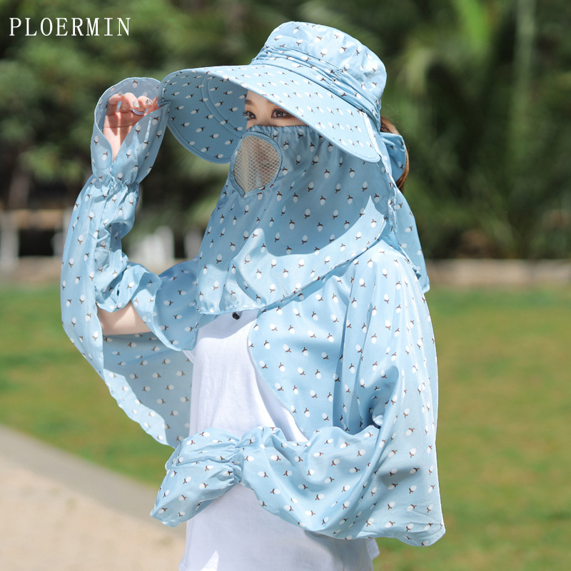 2019 Fashion Women's Foldable Sun Hat Wide Brim Sun Hat Face Neck Omnibearing UV Protection Summer Fishing fisherman Beach Hat