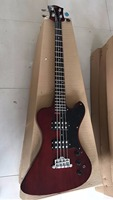 Wholesale K.N Electric Bass Guitar 4 String Bass Mahogany body/Neck In Wine Red 170909