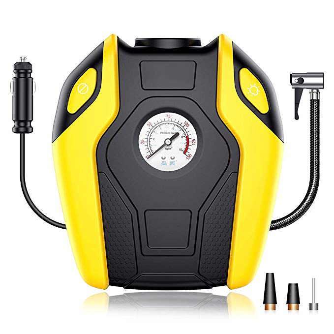 12V Portable Mini Air Compressor Pump Car Truck Bicycle Tire Inflator 150 PSI