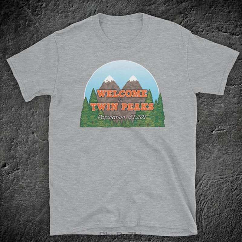 new arrived fashion cool summer men t shirt Twin Peaks Welcome To Twin Peaks Sign Cult Drama TV Show David Lynch Mens T-Shirt