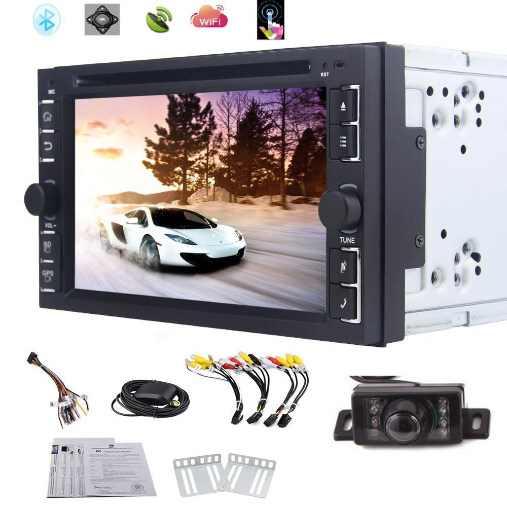 android 4.4 6.2 Inch Car Stereo DVD Player GPS Navigation 3D Map SW Control/Bluetooth/WIFI/FM AM Radio RDS Reversing Camera