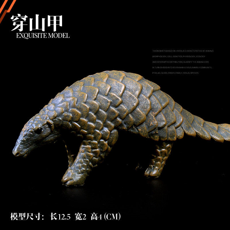 Figurine Animal-Model Pangolin Children Educational-Toys Collecitible-Doll Kids Gift
