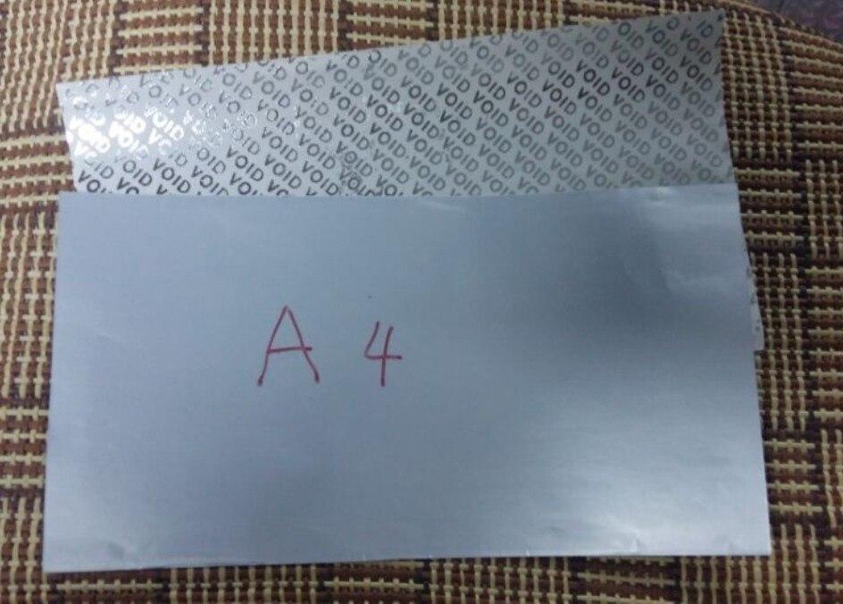 100 feuilles/paquet A4silver vide auto-adhésif papier impression papier étiquettes A4 impression blanc personnalisé autocollant étiquette