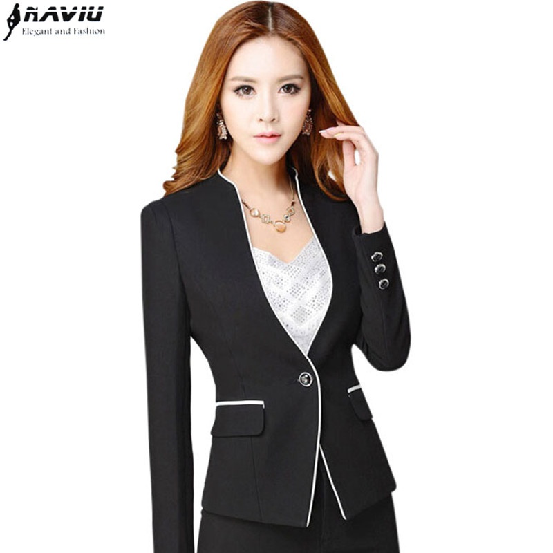 40e9ac32add Hot sale new fashion work wear blazers women OL formal long sleeve v neck jackets  office