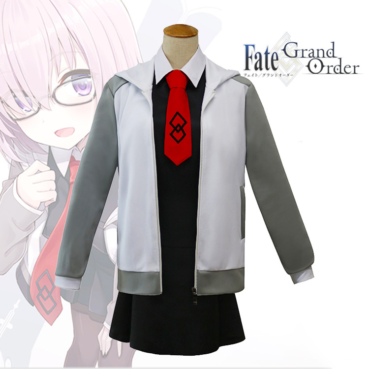 FGO Japanese Anime Fate Grand Order Matthew Kyrielite Cosplay Costume Dress Jacket Tie Halloween Carnival Party Cosplay Costume