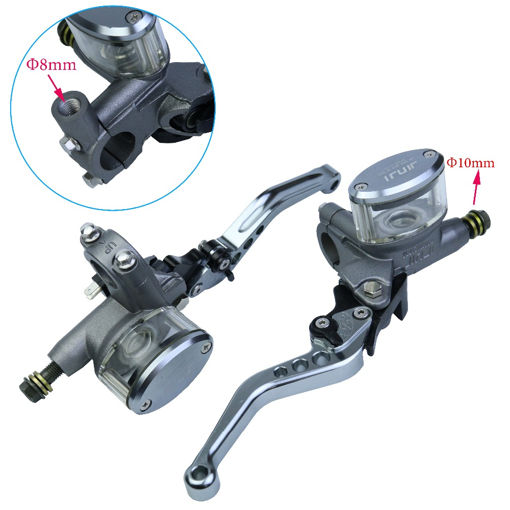 Motorcycle Brake Master Cylinder Mirror Seat Hydraulic Clutch Lever Universal Titaniumn Disc Brake Clutch Pump Handle Adjustable motorcycle brake pump clutch mirror position seat assembly suitable for honda iron horse 400 steed400 vt600 1 set