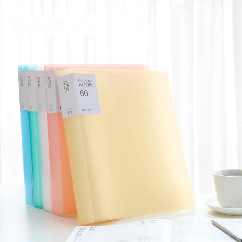 238*310MM A4 File Folder Document Filing Bag Fresh Series 5colors for Choose Presentation Folder Display Book 60 40 30 20 10page deli a3 data document presentation folder 297 420mm 60 40 page transparent folder vertical insert document booklet