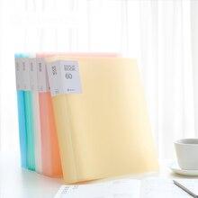 238*310MM A4 File Folder Document Filing Bag Fresh Series 5colors for Choose Presentation Folder Display Book 60 40 30 20 10page