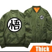 Anime DRAGON BALL Figure Son Gokuu Sangoku Unisex Thick Cotton-padded clothes Winter Coat Cosplay pilot jacket in stock