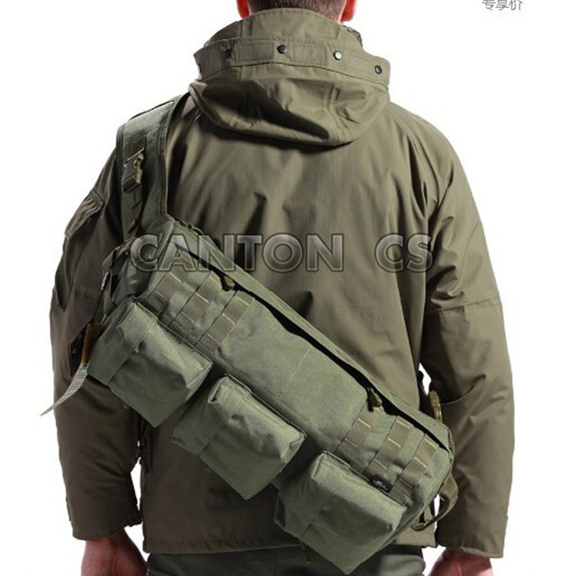fa88274c6596 Men S Tactical MOLLE Camouflage Shoulder Sling Army Bags Military Hiking  Camping Pack Assault Go Bag