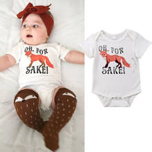 Newborn Baby Boy Girl Cotton Tracksuit Fox Short Sleeve Playsuit Jumpsuit Bodysuit Infant Casual Formal Party Clothes Outfits(China)