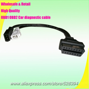 100pcs High Quality Diagnosic Cable for Audi VW Skoda Seat 2x2 Pin 2+2 to 16 Pin OBD 2 obd2 adapter DHL EMS image