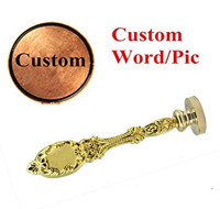 Vintage Custom Made Your Design Letter Picture Personalized Wedding Invitation Wax Seal Stamp Handle Kit Peacock
