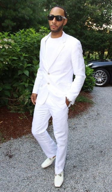 2018 Latest Coat Pant Designs White Linen Wedding Suits For Men Casual Beach Custom Groom Slim
