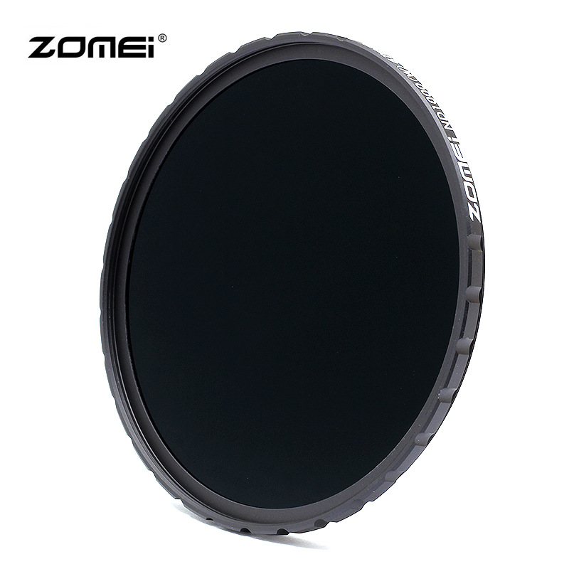 ZOMEI 82mm ND3.0 ND1000 Neutral Density ND Filter (Ultra-thin, Multi-Coated, 10-Stops, No Color Cast) zomei 6in1 filter kit 67mm ring holder 150x100mm gradual nd4 full nd2 nd4 nd8 neutral density square nd filter for cokin z