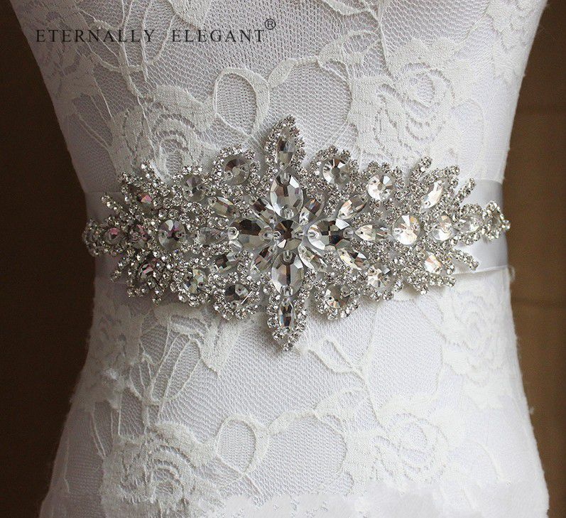2018 Rhinestone Wedding Belt Accessories Bride Bridesmaid Bridal Sashes Belts For Wedding Dress