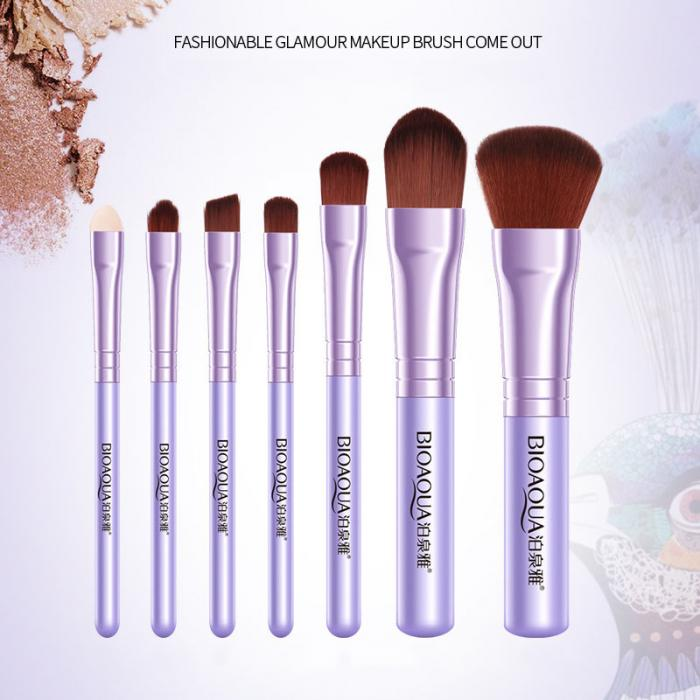 2017 New Hot BIOAQUA 7Pcs Makeup Brushes Set Eye Lip Face Foundation Make Up Brush Kit Soft Fiber Hair Tools Fastshipping WH998 21