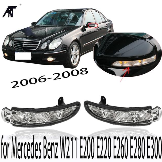 US $40 8 15% OFF|Door Mirror Turn Signal Light for Mercedes Benz W211 E200  E220 E260 E280 E300 2006 2008 -in Signal Lamp from Automobiles &