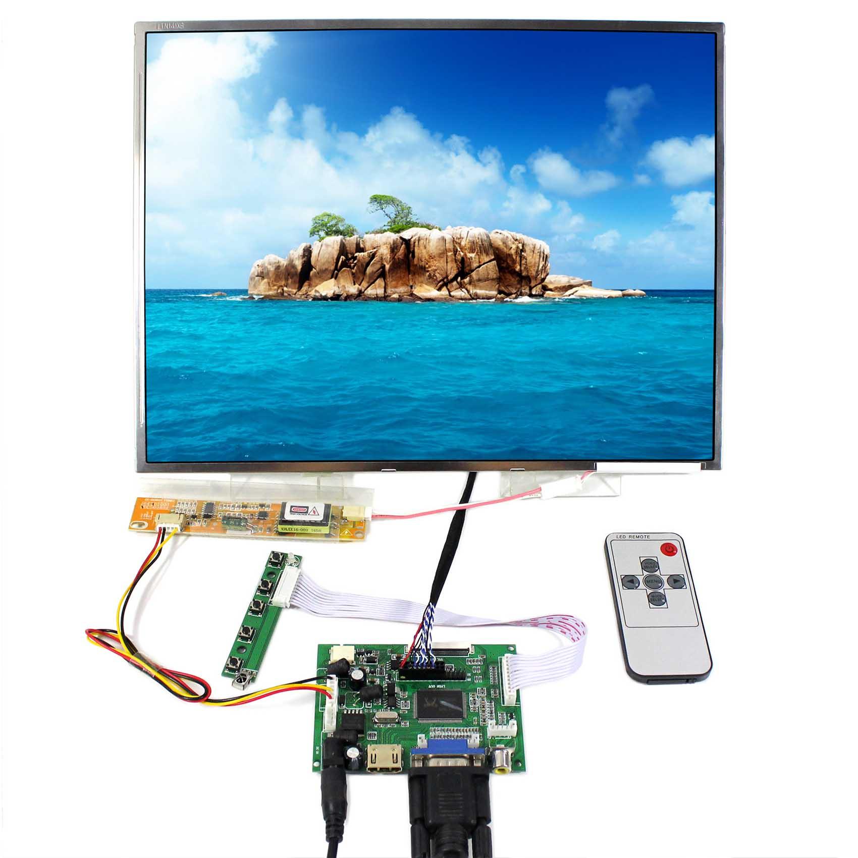 HDMI+VGA+2AV LCD Controller Board VS-TY2662-V1 With 14.1inch LTN141XF LTN141X6 LP141XA 1024x768 LCD Screen цена и фото
