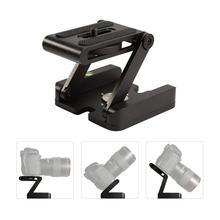 Z Flex Tilt Tripod Head Aluminum Alloy Folding Quick Release Plate Stand Holder for DSLR Compatible Slide