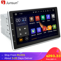 Junsun 10 1 2 Din Car DVD Radio Player 1024 600 Android 5 1 1 GPS