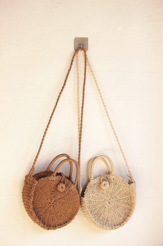 Tireless 21x21cm Small New Straw Bag Summer Girl Round Paper Rope Bag Small Holiday Bag A5287 At Any Cost Shoulder Bags