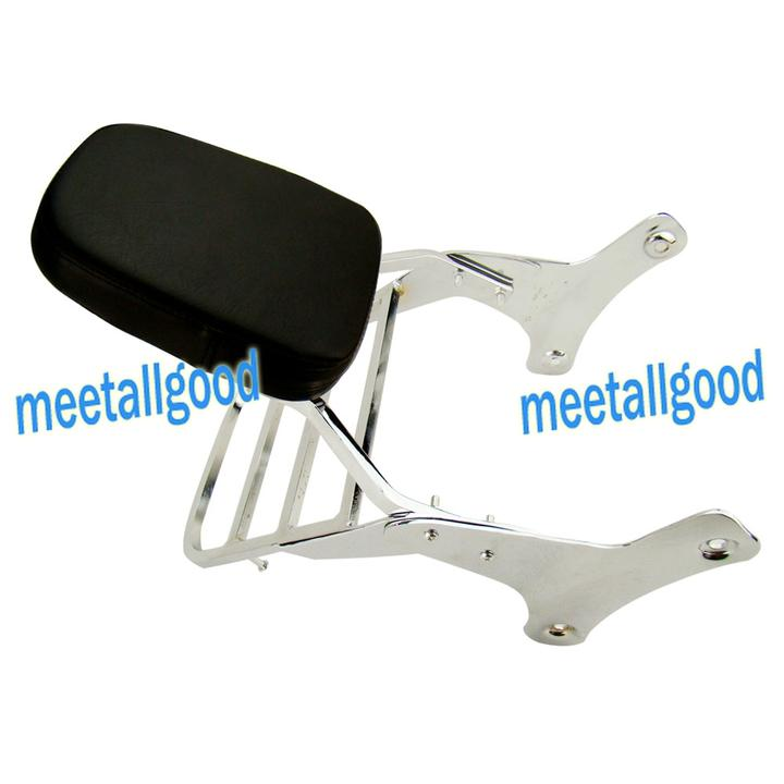 Backrest Sissy Bar Luggage Rack For Honda Shadow VT750 C2 RC44 & VT400 1997-1998 1999 2000 2001 2002 2003